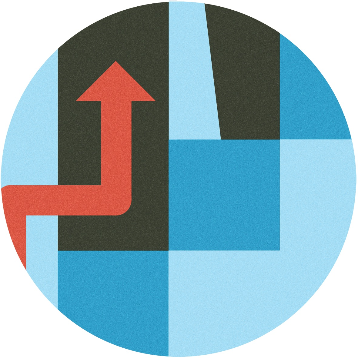Arrow going up icon