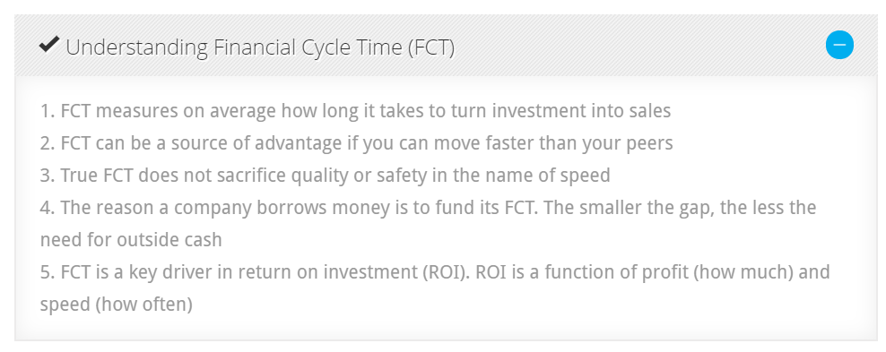 Financial Cycle Time