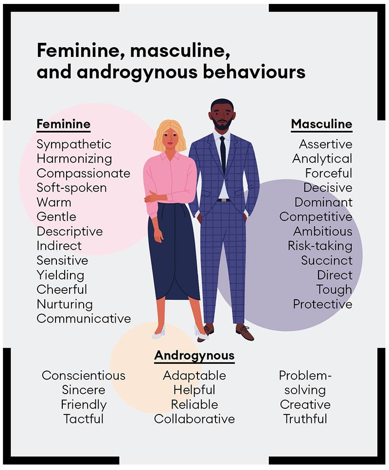 Feminine, masculine and androgynous behaviors