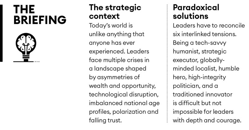 Why leadership has to adapt briefing