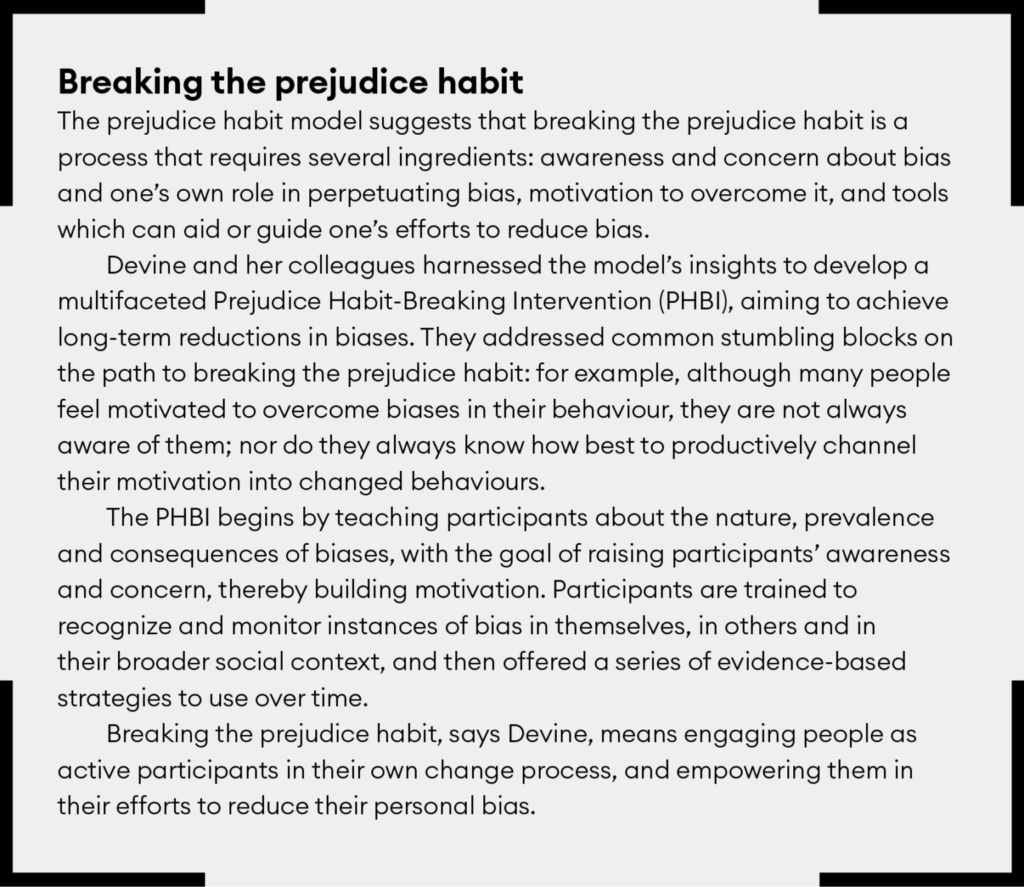 Breaking the prejudice habit