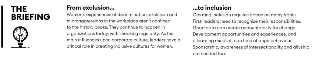 Gender inclusion briefing