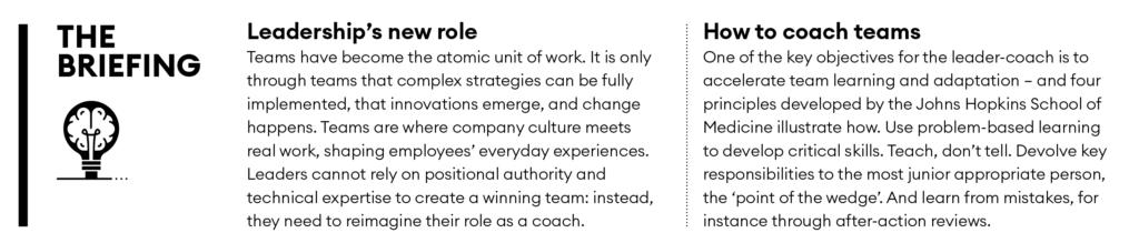 Briefing - team coaching
